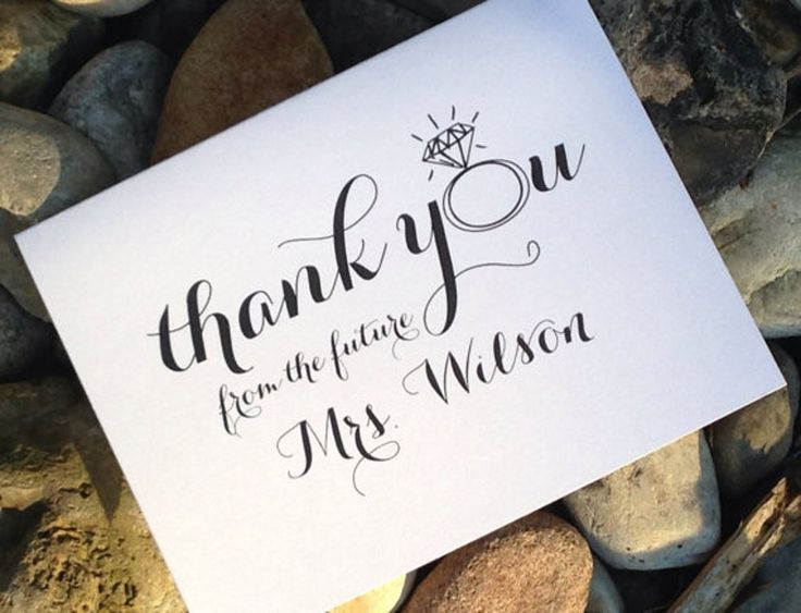 bridal shower thank you notes thank you from the future mrs card