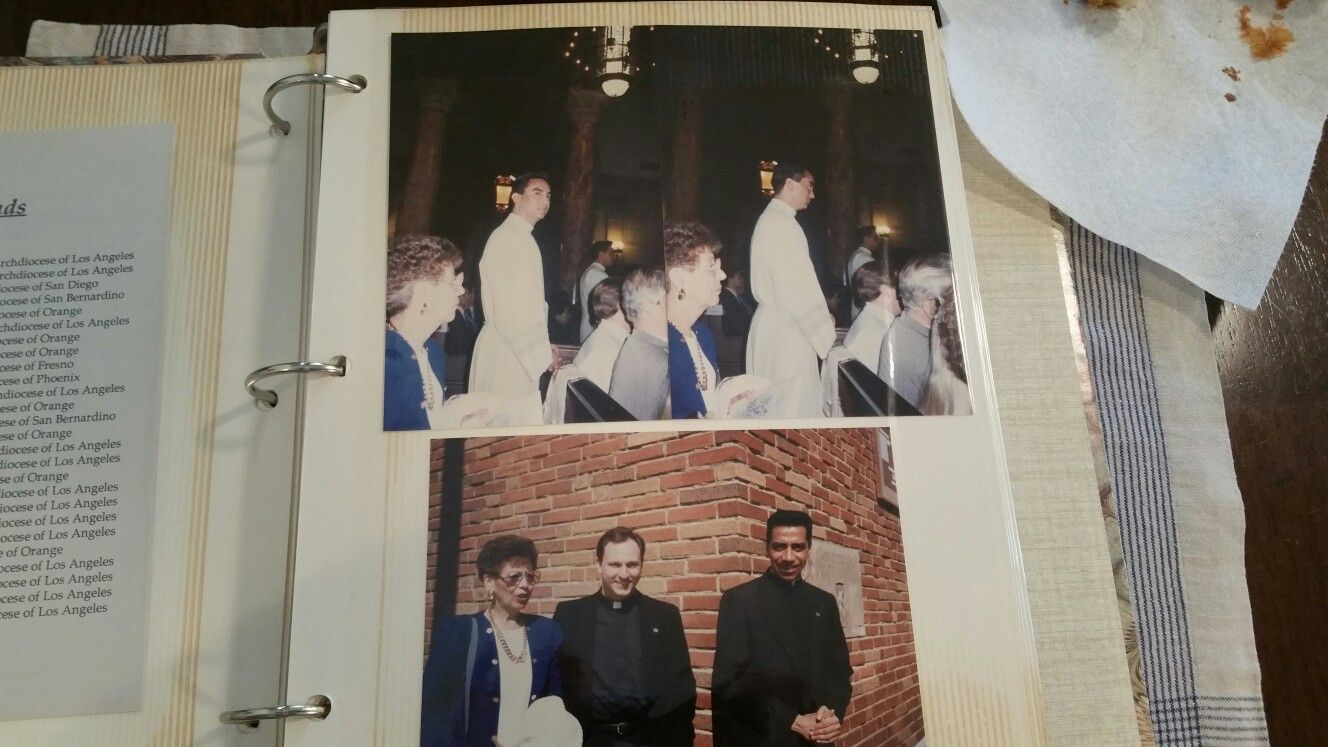 FatherPaul being ordained as a Deacon before a