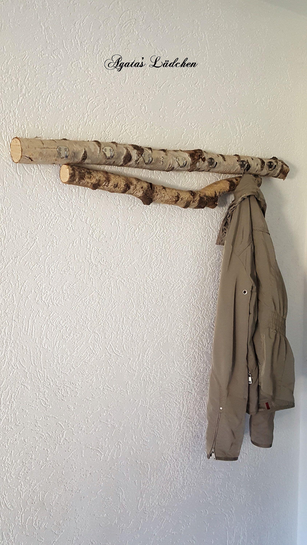 Garderobe Aus Birkenast Naturliche Hakenleiste Kleiderhaken Im