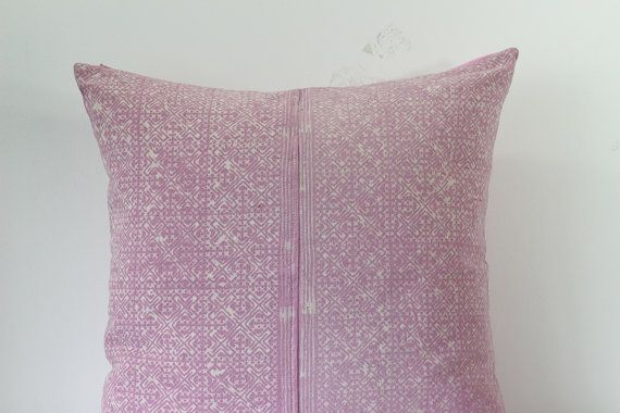 Pink VINTAGE Hand Woven HEMP HMONG Ethnic A Piece Of by Tshaj