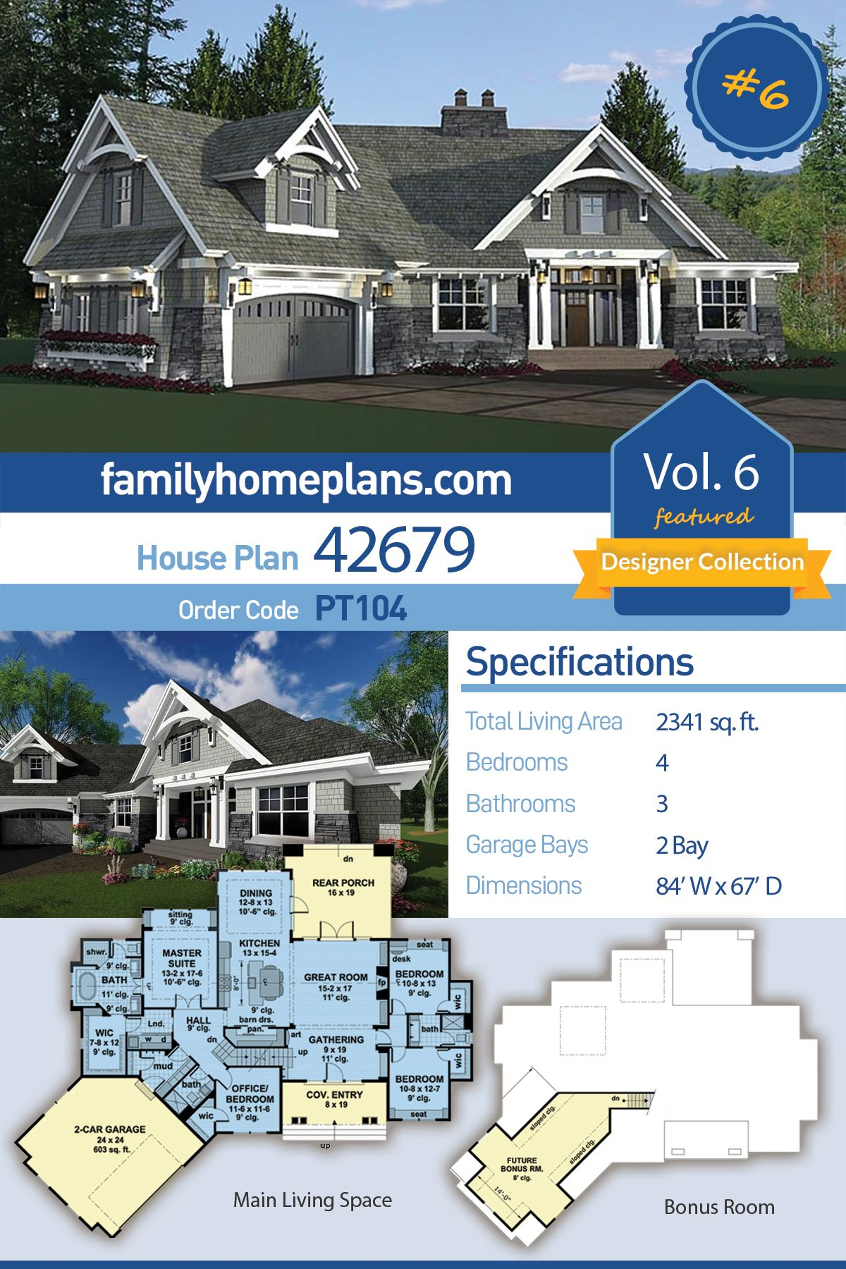 Tudor Style House Plan 42679 With 4 Bed 3 Bath 2 Car Garage Family House Plans Cottage House Plans Craftsman House Plans