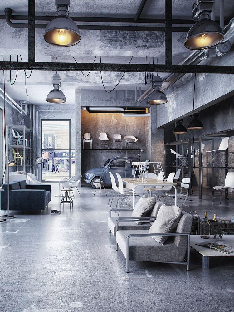 Loft interior design on behance like repin noelito flow for Loft office design