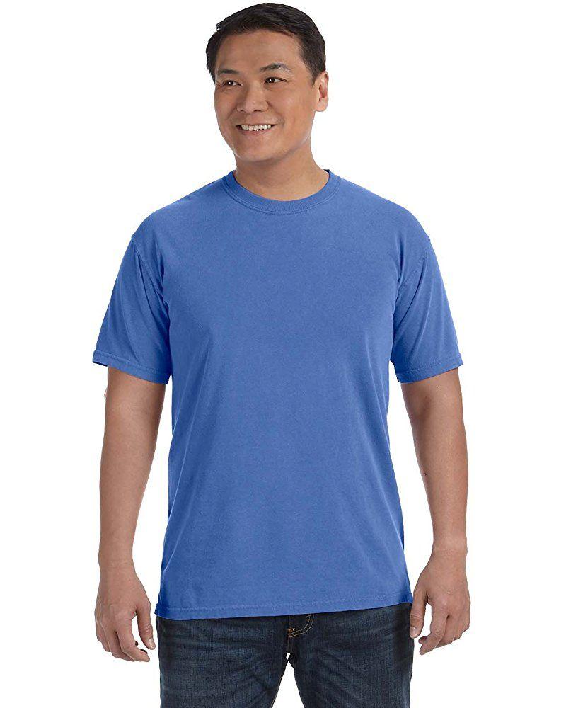 Chouinard Comfort Mens Knit Collar Garment Dye Hem T Shirt