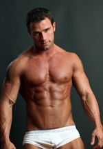 Kent Slugger, male fitness model.