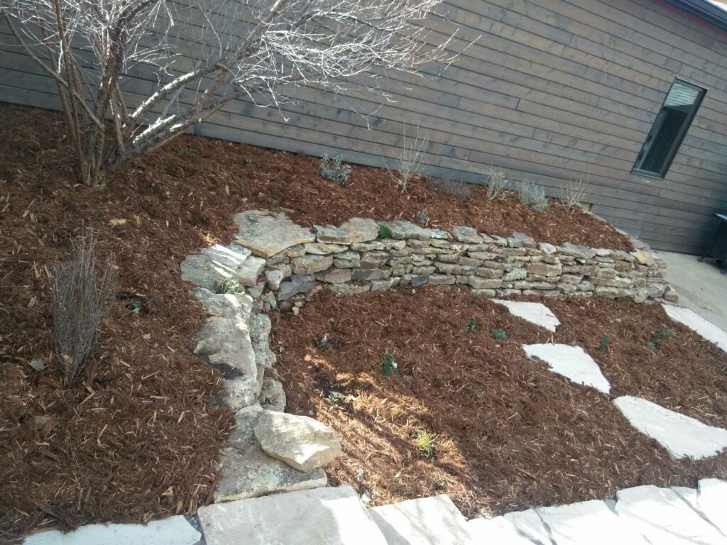 Moss Rock Wall in Lafayette, CO Hardscape, Landscape