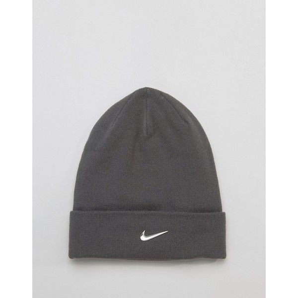 4cdfdb12ab2 Nike Swoosh Beanie In Grey 803734-021 (18 CAD) ❤ liked on Polyvore ...