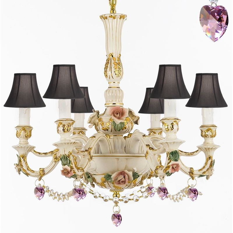 Made In Italy Authentic Capodimonte Porcelain Chandelier By Gallery Lighting Chandeliers And