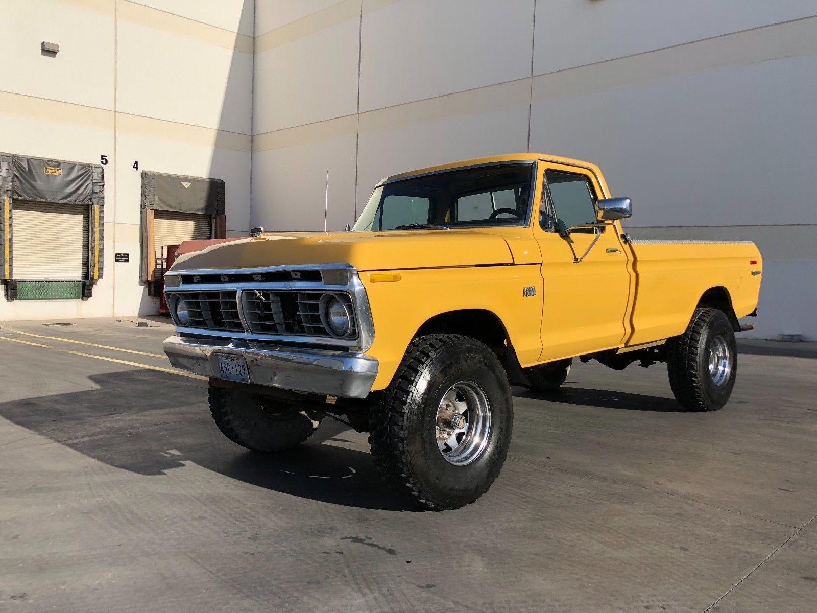 Ebay 1975 Ford F 250 Classic 4x4 Factory Highboy Explorer Pickup Ranger Xlt Truck F250 Survivor Classiccars Cars