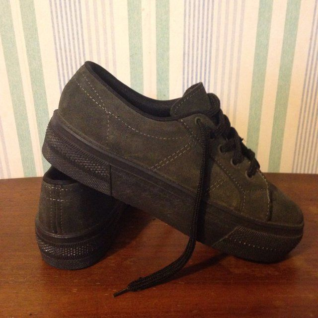 7bbaa515f3b Vintage 90s dark grey and black platform sneakers. Never worn. Made in  Italy.   tags  platforms Jeffrey Campbell dolls kill current mood style