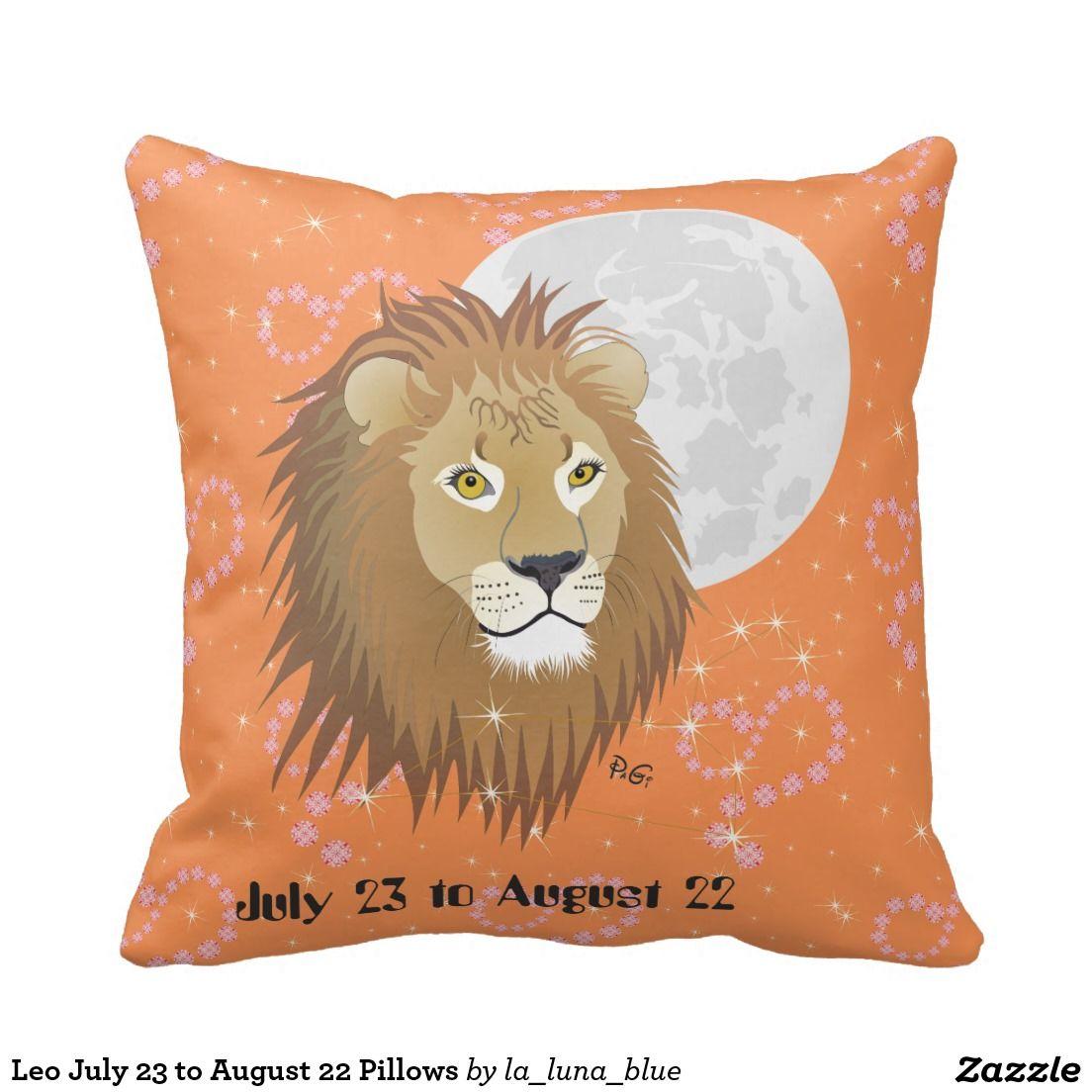 Leo July 23 To August 22 Pillows Kissen Zazzle Ch Kissen