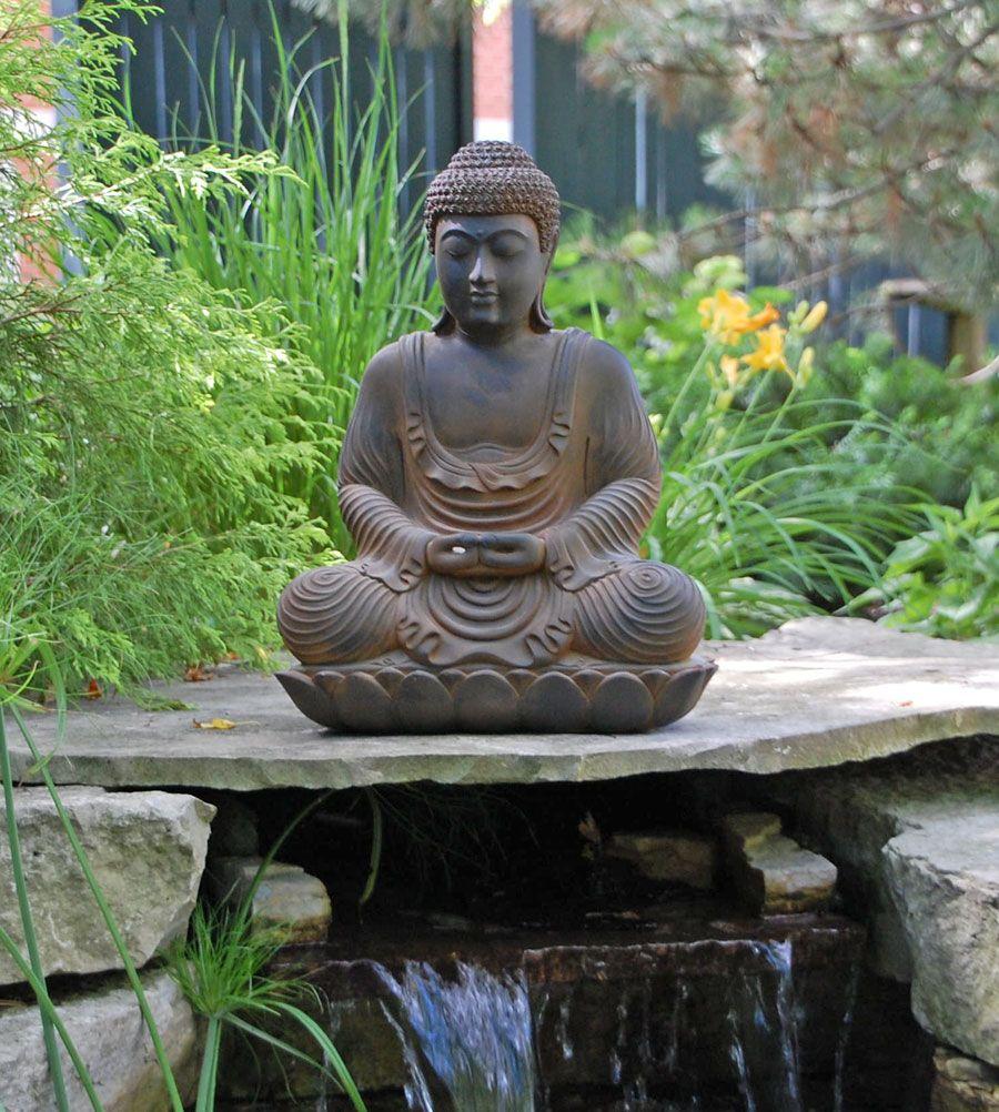 Meditating Buddha Garden Statue Buddha Garden Statues 400 x 300