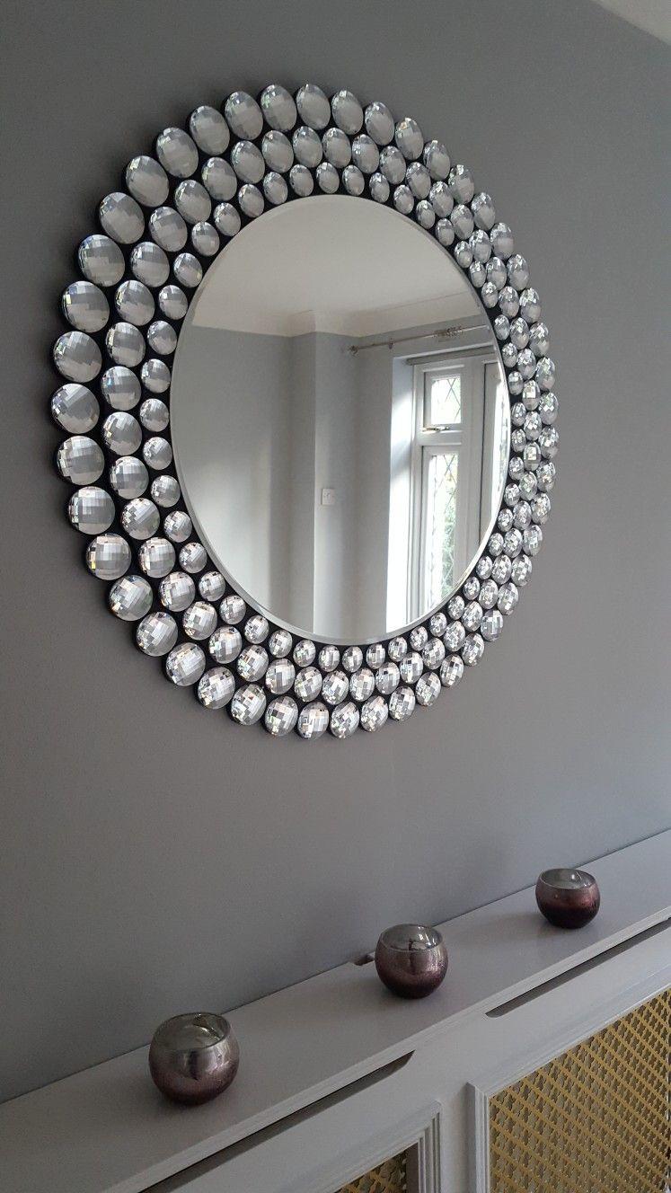 next triple jewelled mirror and dulux goose down matt. Black Bedroom Furniture Sets. Home Design Ideas