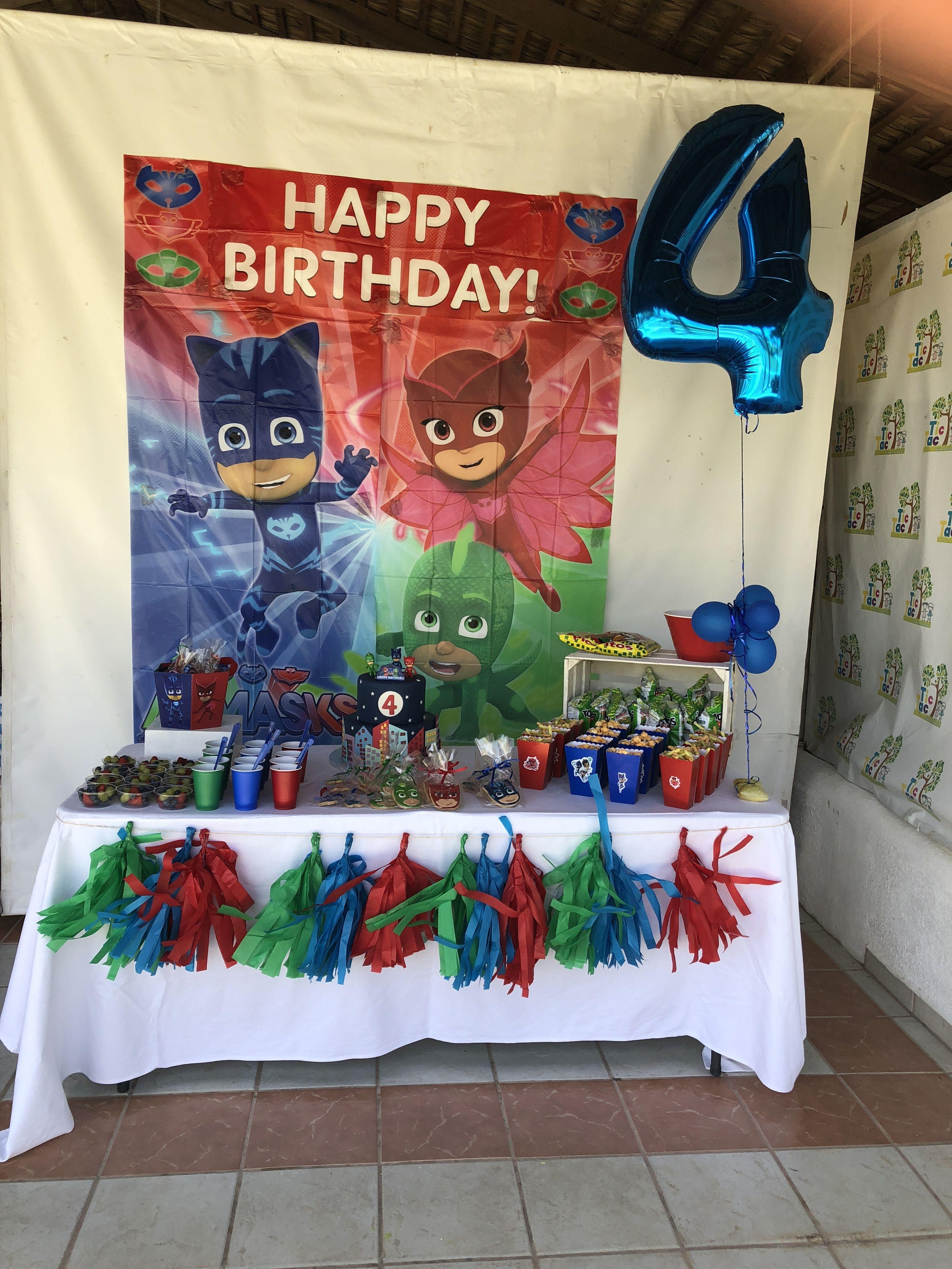Pj Masks Birthday Party Pj Masks Birthday Party 4th Birthday