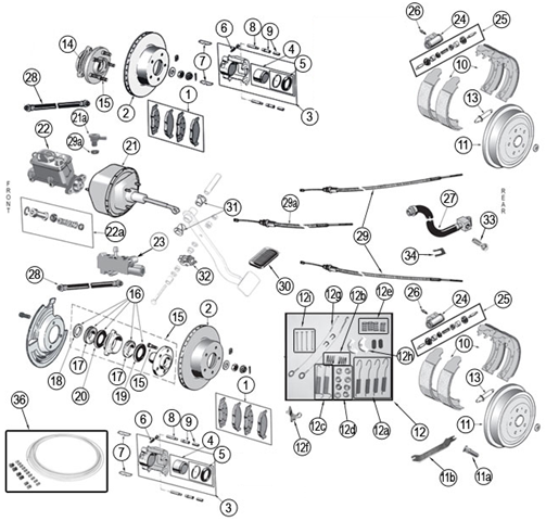 jeep grand cherokee brake diagram