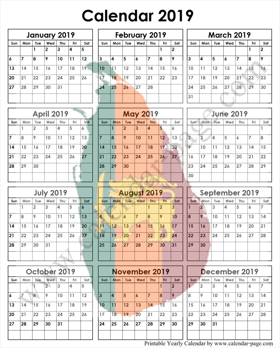 School Calendar 2019 Sri Lanka Notes Calendar 2019 Template