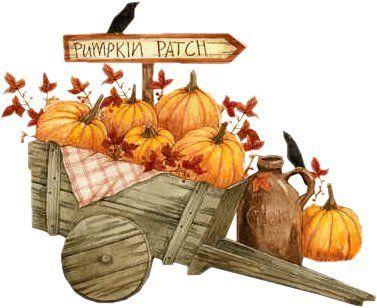 To The Pumpkin Patch Fall Clip Art Autumn Art Autumn Illustration