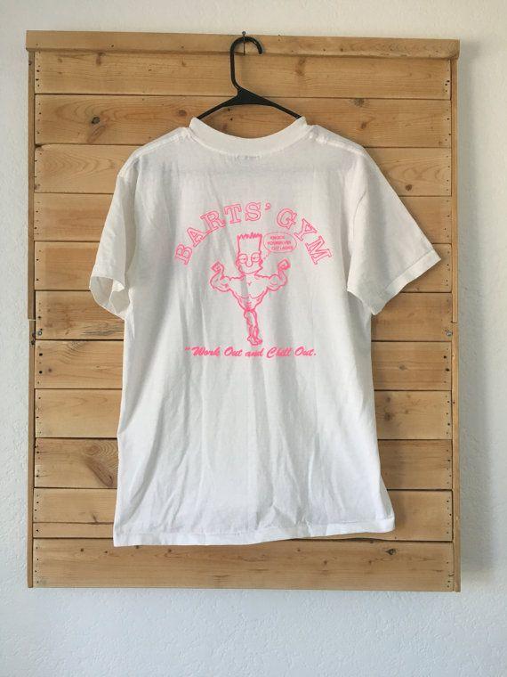 Vintage Simpsons Shirt Bart Simpson Vintage Bart S Gym Shirt Simpsons Shirt Gym Shirts Shirts