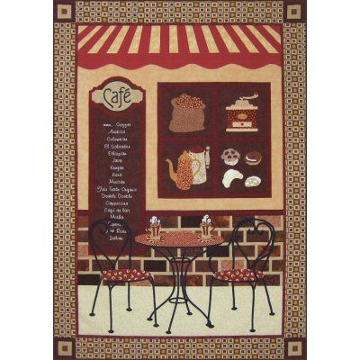 Coffee Café Quilt Pattern http://www.victorianaquiltdesigns.com/VictorianaQuilters/PatternPage/CoffeeCafe/CoffeeCafe.htm #quilting #coffee
