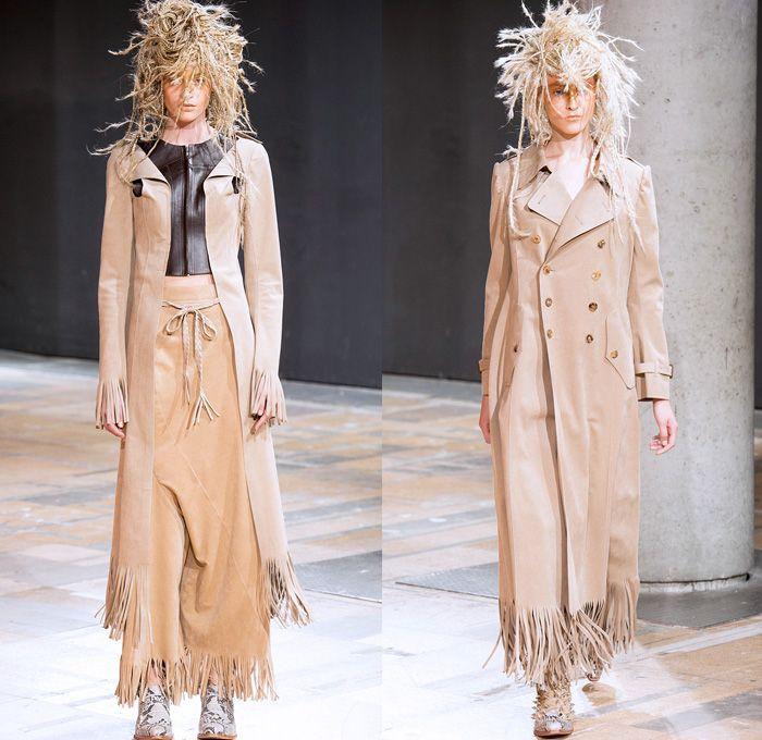 Junya Watanabe 2014 Spring Summer Womens Runway Collection - Paris Fashion Week - Mode à Paris - Crusty Raver Braided Hair Hippie Tribal Nat...