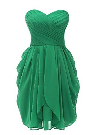 bc37cbb9898 Kiss Dress Women s Strapless Chiffon Short Bridesmaid Dresses Prom Gowns at Amazon  Women s Clothing store