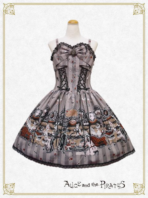 Alice & the Pirates Rosy Night Masquerade JSK 2 in Grey