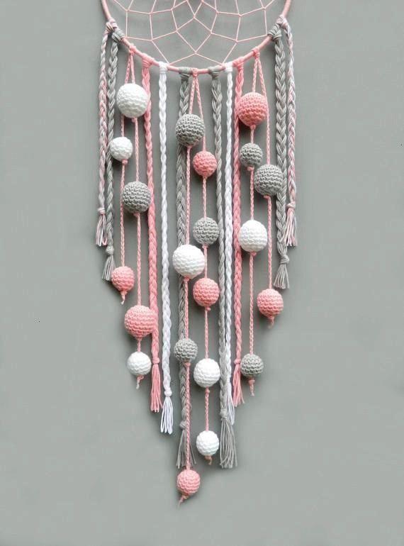 vivero sueño catcher niños habitación decoración colgante de pared regalo de Navidad para niña Atrapasueños con regalos beb&eacu...