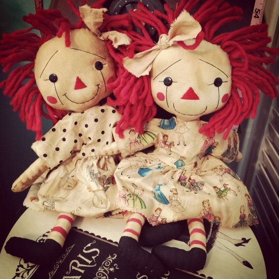 Both of these dolls are for sale in my Etsy shop. Click the photo and get to know them more <3