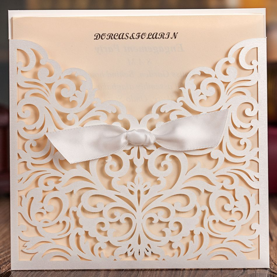 50pcs delicate laser cut wedding invitation with embossed flora 50pcs delicate laser cut wedding invitation with embossed flora wedding cards free shipping1 card stopboris Image collections