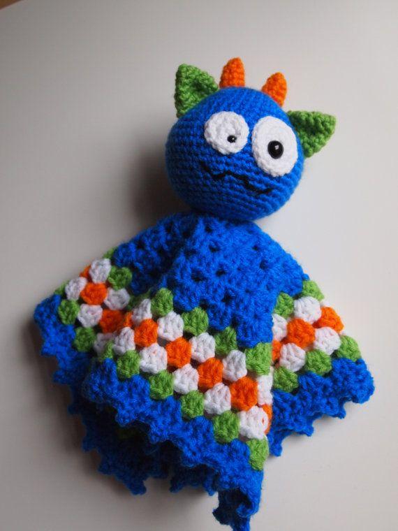 Amigurumi Silly Monster Security Blanket Lovey PDF Crochet Pattern ...