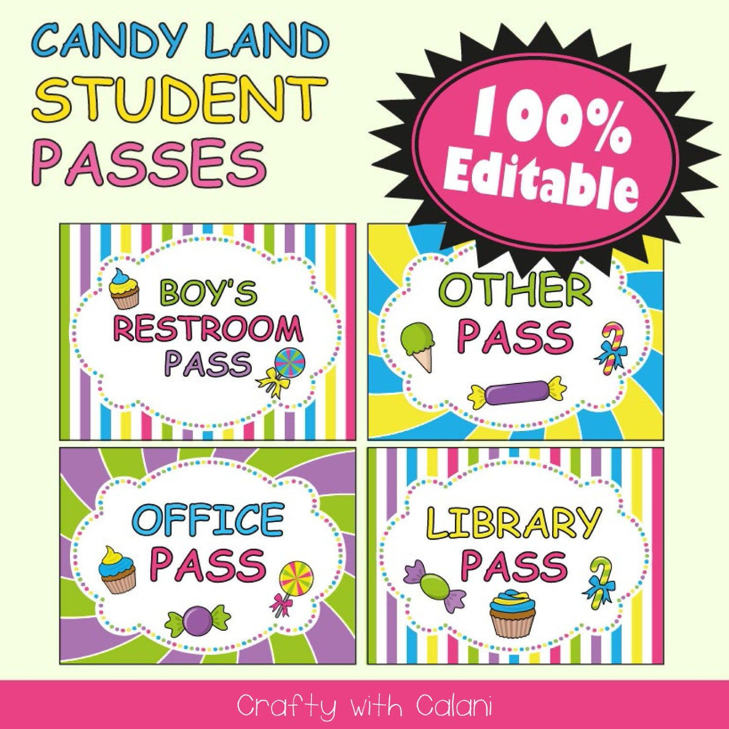 This is a graphic of Hall Pass Printable with regard to customizable