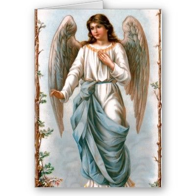 Vintage Easter Angel Greeting Card