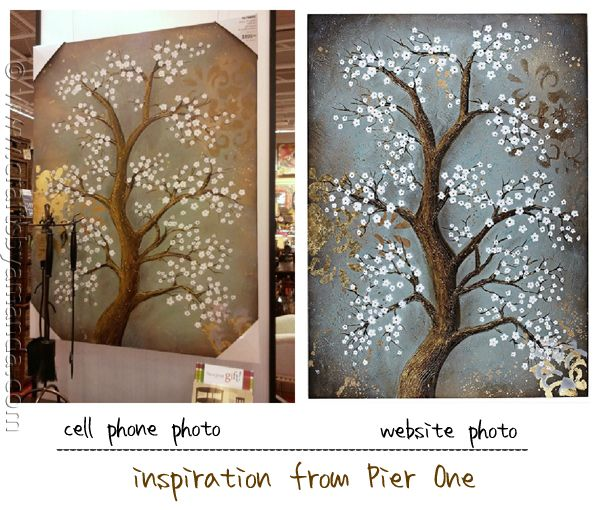 White Cherry Blossom Tree Painting Crafts By Amanda Tree Painting White Cherry Blossom Cherry Blossom Tree