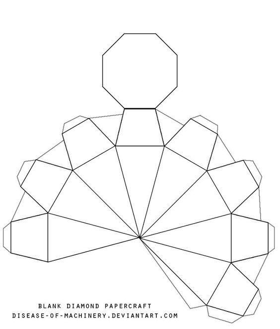 3D Paper Diamonds Diamond Template Printable Blank diamond - lease extension agreement