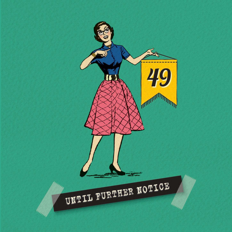 Funny 50th birthday card milestone denial 50th