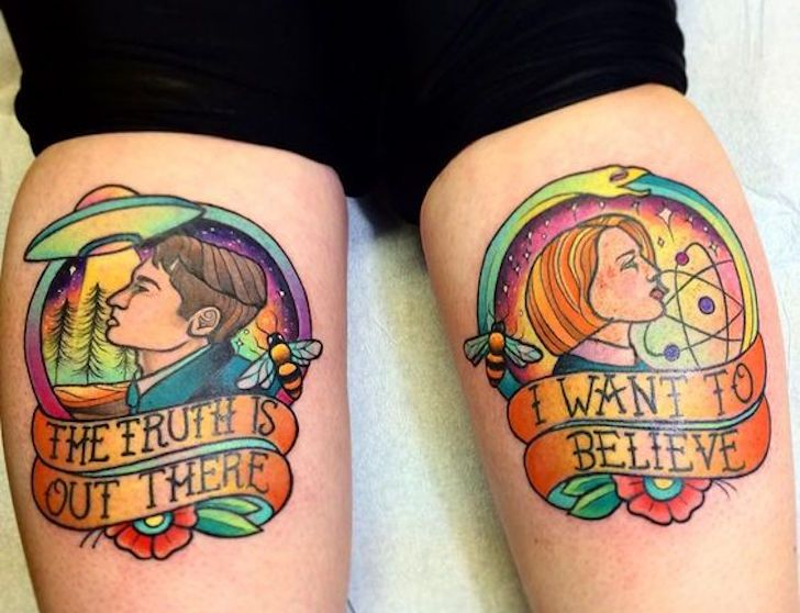 Awesome X Files Tattoos For Those Who Want To Believe