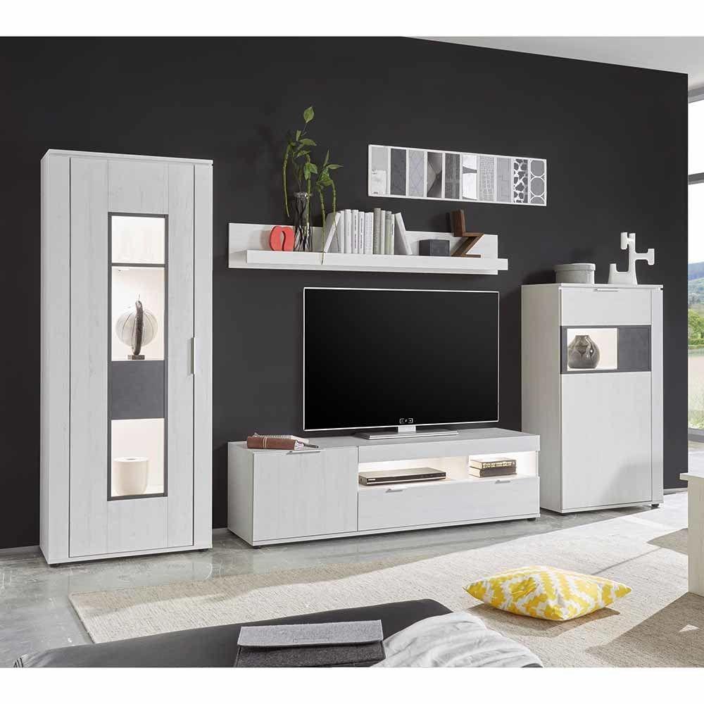 Anspruchsvoll Wohnkombination Dekoration Von In Weiß Led Beleuchtung (4-teilig) Jetzt Bestellen