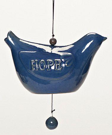Loving this Blue 'Hope' Bird Bell on #zulily! #zulilyfinds