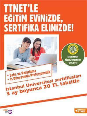 TTNET'ten İstanbul Üniversitesi Onaylı Sertifika