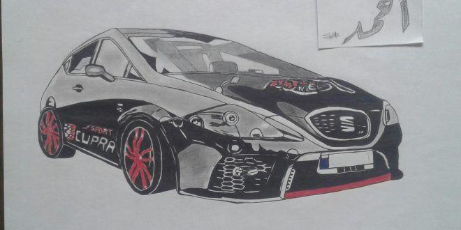 رسم سيارة بقلم حبر جاف طفرة جوز Sports Car Car Vehicles