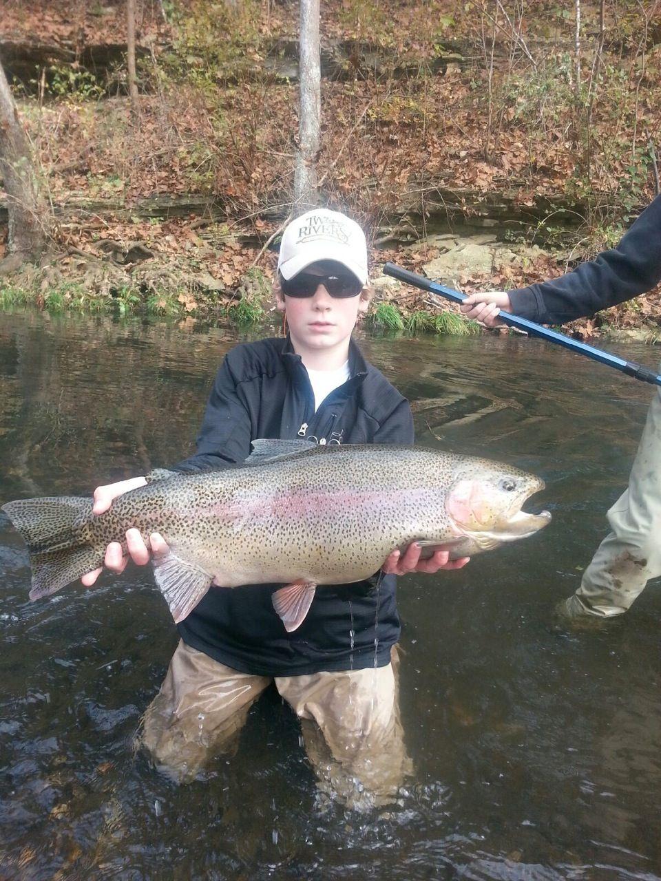 Large Rainbow Trout Dry Run Creek Fly Fishing Two Rivers Fly Shop Fish Freshwater Fishing Striper Fishing