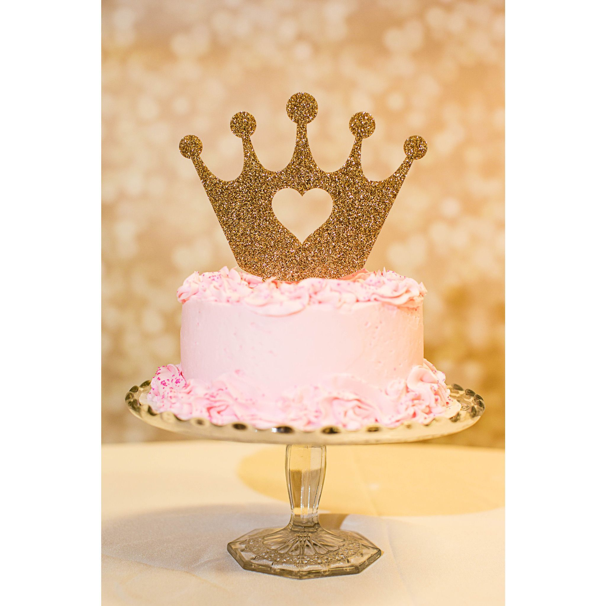 Crown Princess Cake Topper For Birthday