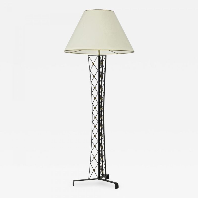 Jean Royere Documented Tour Eiffel Wrought Iron Floor Lamp Floor Lamp Lighting Galerie Andre Hayat Wrought Iron Floor Lamps Iron Floor Lamp Floor Lamp