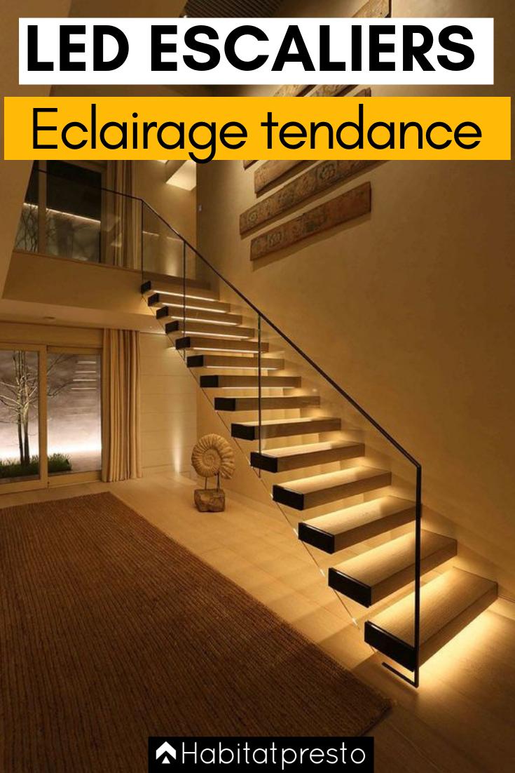 Eclairer Un Escalier Avec Des Led 5 Idees Faciles Et Tendance Led Escalier Eclairage Escalier Spot Escalier