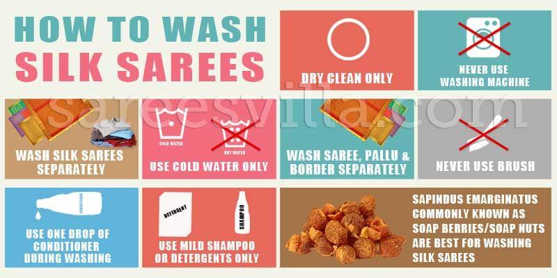 How To Maintain Silk Sarees Tips Care Sarees Villa Silk Sarees How To Wash Silk Saree
