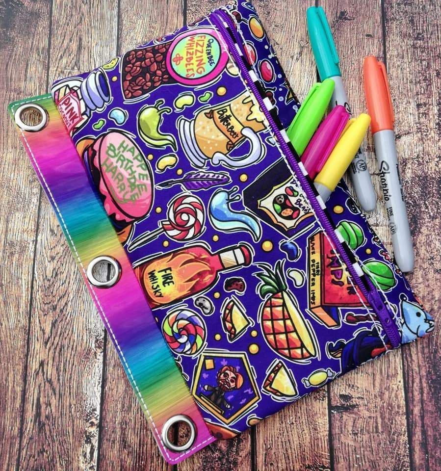 DIGITAL DOWNLOAD ITH Pencil Pouch Binder Bag 4 Sizes
