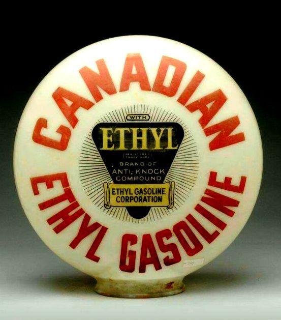Canadian Ethyl Gasoline (Ethyl) gas pump globe