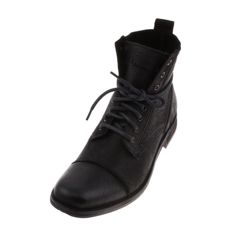 levis mens gents 220905 black leather lace up boot 163 92