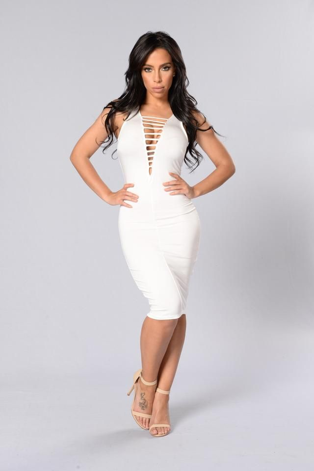 Can't Be Caged Dress - Ivory