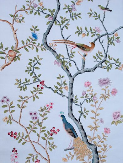 Fromental Wall Covering Painted On To Silk