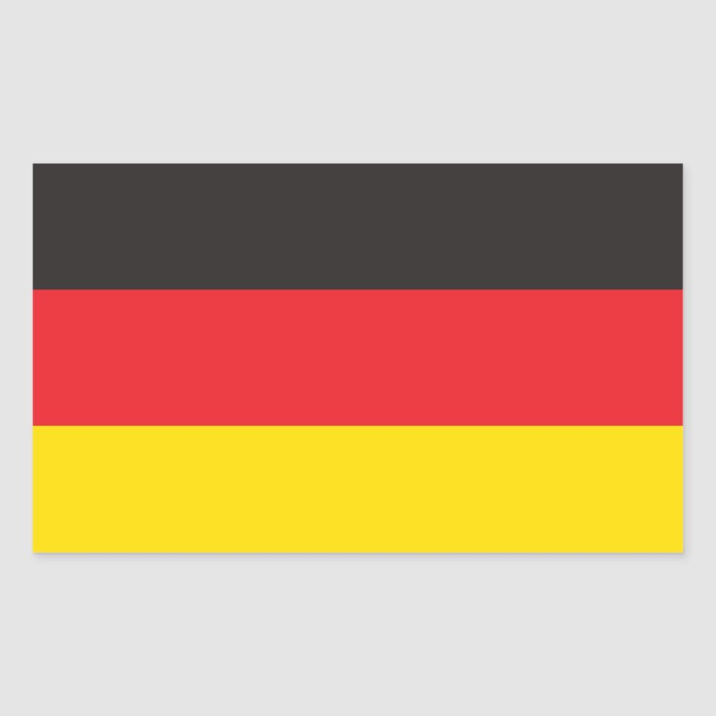 German Flag Rectangular Sticker Zazzle Com Germany Flag German Flag Custom Stickers